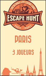 LIVE ESCAPE GAME PARIS- 3 PERSONNES