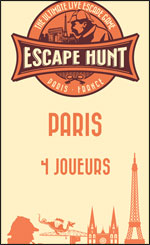 LIVE ESCAPE GAME PARIS- 4 PERSONNES