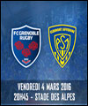 R�servation FC GRENOBLE RUGBY / ASM CLERMONT