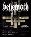 Réservation BEHEMOTH + AT THE GATES