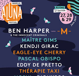 Pop-rock ARDECHE ALUNA FESTIVAL -PASS 1 JOUR 12EME EDITION RUOMS