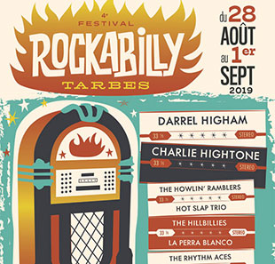 Pop-rock 4E FESTIVAL ROCKABILLY DE TARBES PASS 2 JOURS DU 30 AU 31/08/2019 TARBES