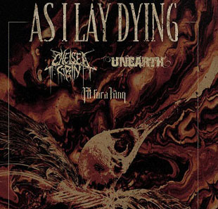 Pop-rock AS I LAY DYING CHELSEA GRIN-UNEARTH-FIT FOR A KING PARIS