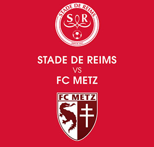 Voetbal STADE DE REIMS / FC METZ LIGUE 1 CONFORAMA - 21EME JOURNEE REIMS