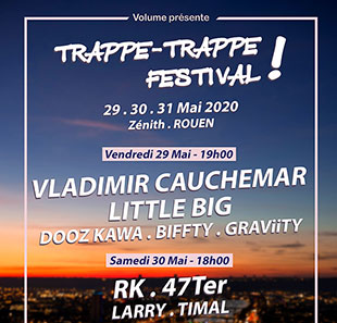 Pop-rock TRAPPE-TRAPPE FESTIVAL 2020 LE GRAND QUEVILLY