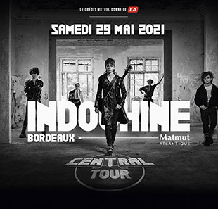 INDOCHINE : BUS REIMS + CAT1