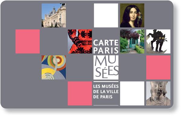 CARTE PARIS MUSEES